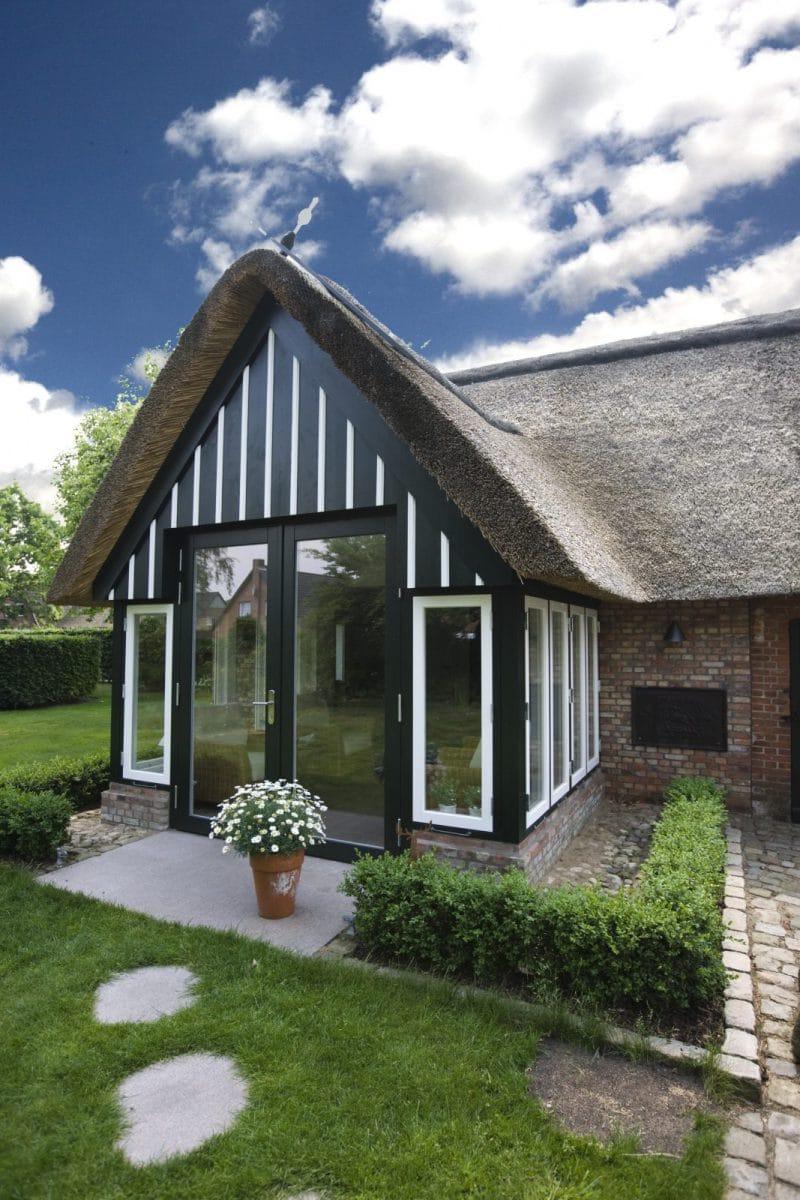 Reetdachhaus Anbau Von Wintergarten Und Einbau Von Sauna Maack
